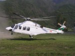 Agusta Bell AB19 Aga Khan Foundation taking off from Trontano (VB) ...