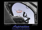 Chinook through the cockpit of a MD 500